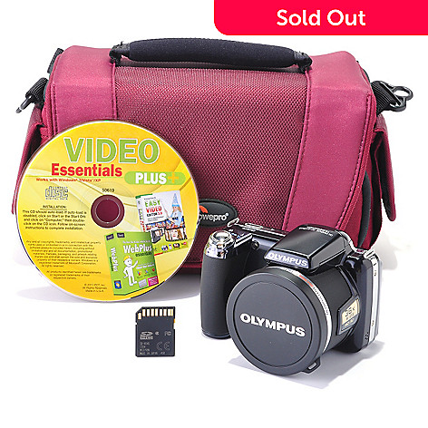 432-669 - Olympus 14MP 36x Optical Zoom Digital Camera w/ Software, Camera Bag & 4GB Memory Card