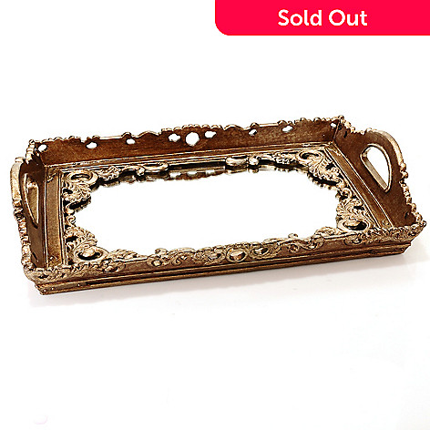 432-820 - Style at Home with Margie 17.75'' Glasgow Decorative Mirrored Tray