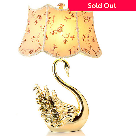 432-966 - Style at Home with Margie 29'' Golden Swan Table Lamp