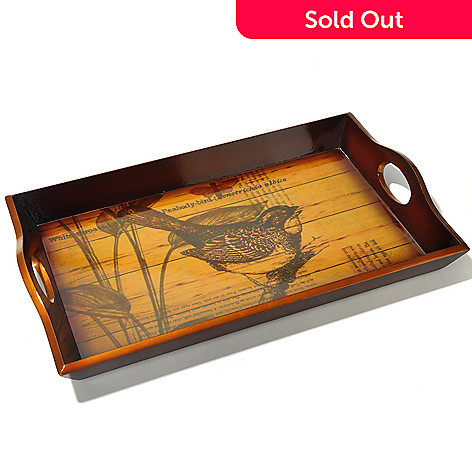 432-970 - Style at Home with Margie 17.32'' Perching Bird Serving Tray