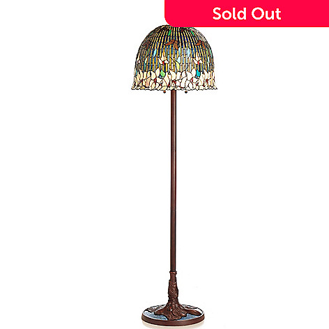 433-016 - Tiffany-Style 66'' Pond Lily Stained Glass Floor Lamp