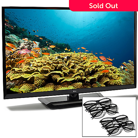 433-031 -  LG 55'' 1080p TruMotion 120Hz 3D LED Intelligent Sensing HDTV w/ 4 Pairs 3D Glasses