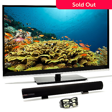 433-139 - Hitachi 1080p 3D Smart LED TV w/ 3D Glasses & Bluetooth® Sound Bar