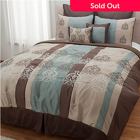 433-142 - North Shore Linens™ ''Grenada'' Microfiber Eight-Piece Bedding Ensemble