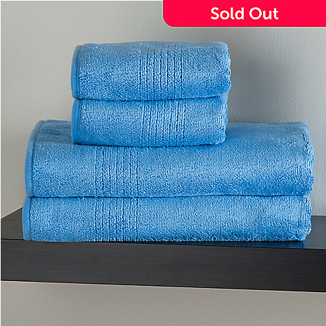 433-161 - Cozelle® Microfiber Set of Four Hand & Bath Towels