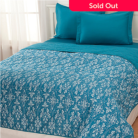 433-255 - North Shore Linens™ ''Marais'' 400TC Egyptian Cotton Three-Piece Coverlet Set