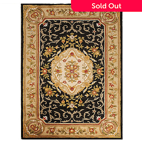 433-271 - Bashian Rugs Aubusson-Style Hand-Tufted 100% Wool Rug