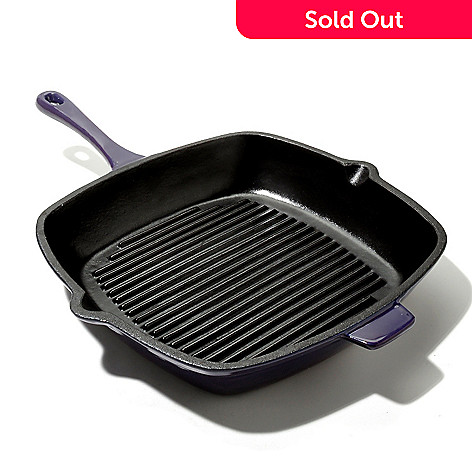 433-280 - Cook's Tradition™ 11'' Square Enamel Cast Iron Grill Pan