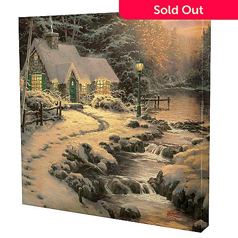 433-295 - Thomas Kinkade ''Evening Glow'' 24'' x 24'' Gallery Wrap