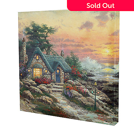 433-297 - Thomas Kinkade Cottage by the Sea'' 20'' x 20'' Gallery Wrap