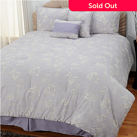 433-298 - North Shore Linens™ ''Raleigh'' Microfiber Six-Piece Bedding Ensemble
