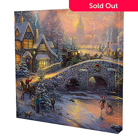433-299 - Thomas Kinkade ''Spirit of Christmas'' 20'' x 20'' Gallery Wrap