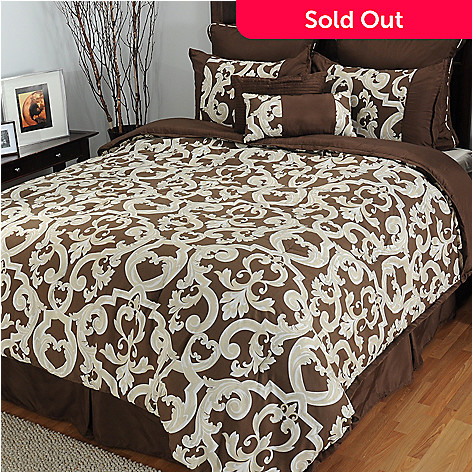 433-303 - North Shore Living™ ''Durham'' Microfiber Eight-Piece Bedding Ensemble