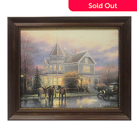 433-310 - Thomas Kinkade ''Christmas Memories'' 16'' x 24'' Framed Print