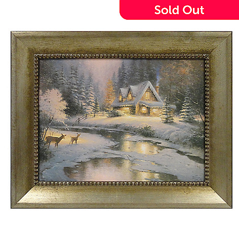 433-313 - Thomas Kinkade ''Deer Creek Cottage'' 12'' x 16'' Framed Print