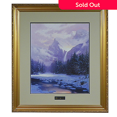 433-316 - Thomas Kinkade ''Glory of Winter'' 20'' x 24'' Limited Edition Framed Print