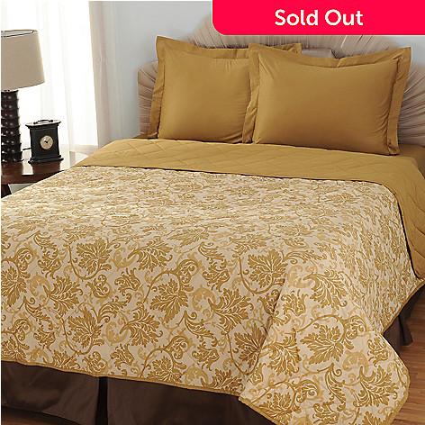 433-709 - North Shore Living™ Three-Piece 600TC Egyptian Cotton SureSoft® Coverlet Set