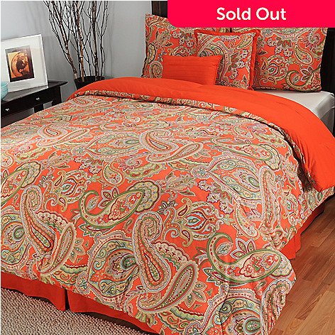 433-710 - North Shore Linens™ ''Bengal'' Cotton Six-Piece Bedding Ensemble