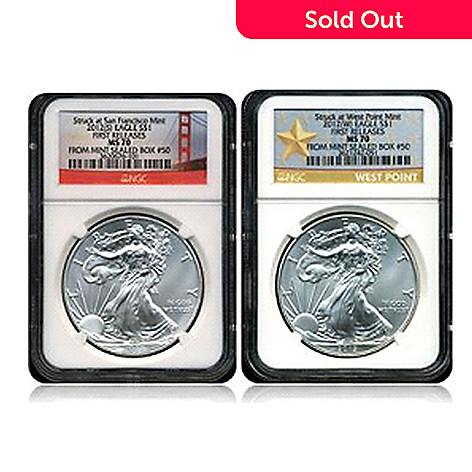 433-752 - 2012 Silver American Eagle NGC MS70 Two-Piece Matched Coin Set