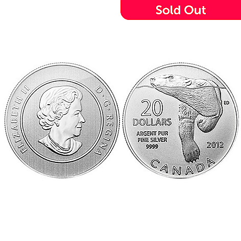 433-758 - 2012 Silver BU $20 Canadian Polar Bear Coin