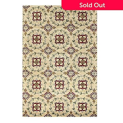 433-759 - Bashian Wreath 5' x 8' or 8' x 10' Hand Tufted 100% Wool Rug