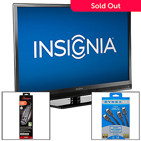 433-763 - Insignia™ 32'' or 42'' 1080p LED Ultra-Slim HDTV w/ Surge Protector & Set of Two HDMI Cables