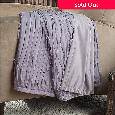 433-770 - North Shore Living™ Ruffle 60'' x 50'' Throw