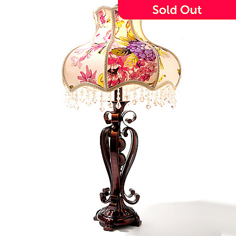 433-914 - Style at Home with Margie 26.5'' All Dressed Up Floral Table Lamp