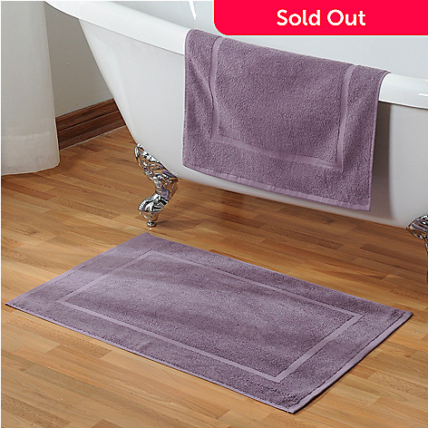 433-917 - Cozelle® 36'' x 22'' Ultra-Absorbent Cotton Set of Two Bath Mats