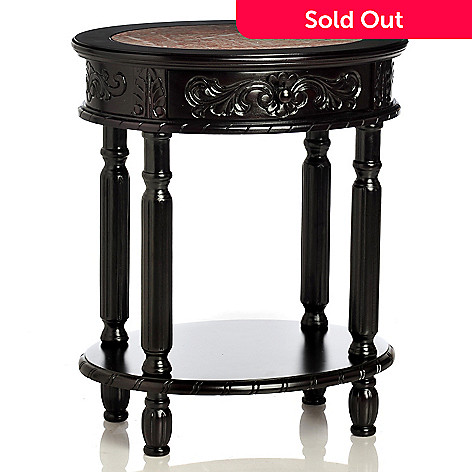 433-918 - Style at Home with Margie 26'' Brookside Hand-Carved Table