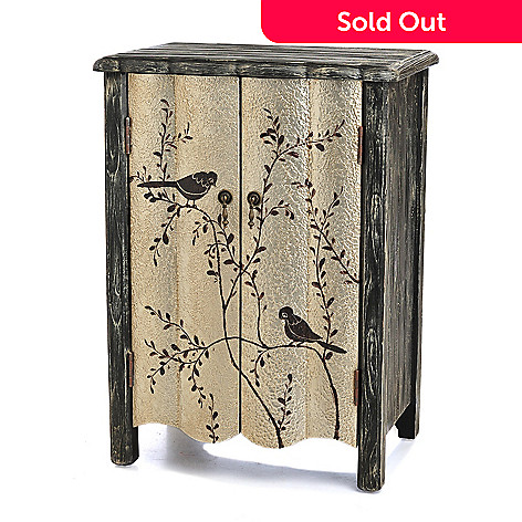 433-922 - Style at Home with Margie 30.5'' Hand-Painted Birdie Cabinet