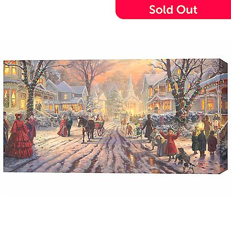 433-925 - Thomas Kinkade ''Victorian Christmas Carol'' 31'' x 16'' Gallery Wrap