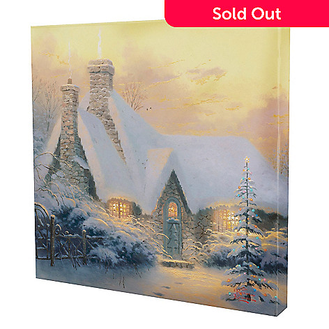 433-926 - Thomas Kinkade ''Christmas Tree Cottage'' 20'' x 20'' Gallery Wrap
