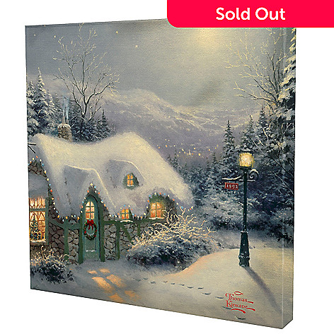 433-927 - Thomas Kinkade ''Silent Night'' 14'' x 14'' Gallery Wrap