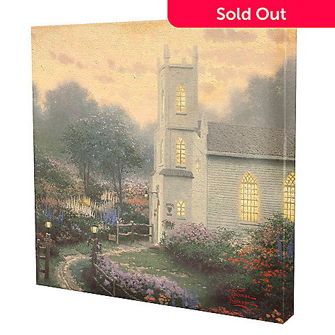 433-928 - Thomas Kinkade ''Blossom Hill Church'' 14'' x 14'' Gallery Wrap