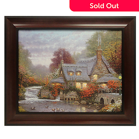 433-929 - Thomas Kinkade ''The Miller's Cottage'' 16'' x 20'' Framed Textured Print