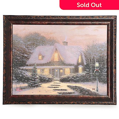 433-933 - Thomas Kinkade ''Christmas Eve'' 12'' x 16'' Framed Textured Print