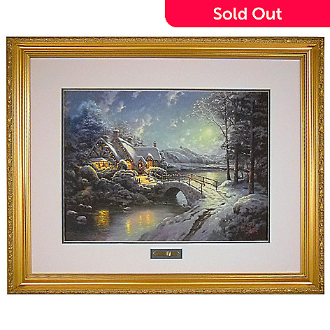 433-936 - Thomas Kinkade ''Christmas Moonlight'' 18'' x 24'' Limited Edition Framed Print