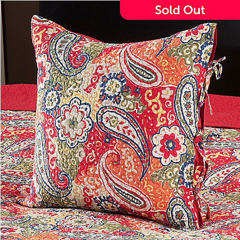 434-055 - North Shore Linens™ ''Colonial Paisley'' 20'' x 20'' Decorative Pillow