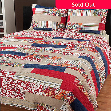 434-060 - North Shore Linens™ ''Rowan'' Three-Piece Quilt Set