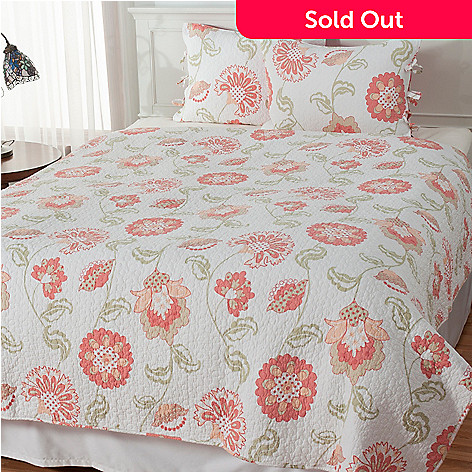 434-062 - North Shore Linens™ ''Addie'' Cotton Three-Piece Quilt Set