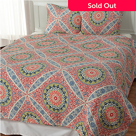 434-066 - North Shore Living™ ''Zola'' Cotton Three-Piece Quilt Set