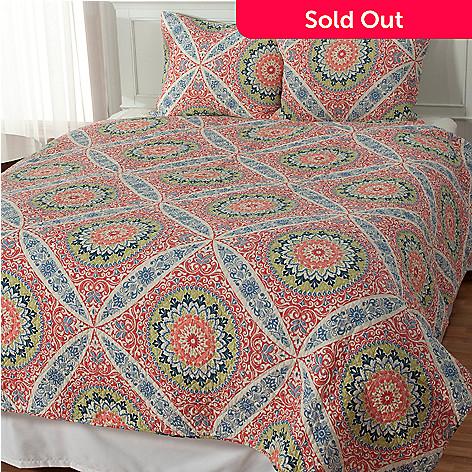 434-066 - North Shore Linens™ ''Zola'' Cotton Three-Piece Quilt Set