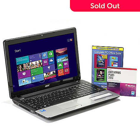 434-337 - Acer Windows 8 Aspire 15.6'' Notebook Intel® Dual-Core 4GB RAM/500GB HD w/ Software Suite