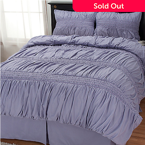 434-347 - Cozelle® ''Gathered Trim'' Four-Piece Comforter Set
