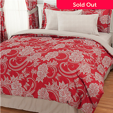 434-363 - Cozelle® Microfiber Easy-Care Floral Eight-Piece Sheet & Bedding Set