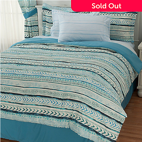 434-366 - Cozelle® Microfiber Easy-Care Aztec Eight-Piece Sheet & Comforter Set