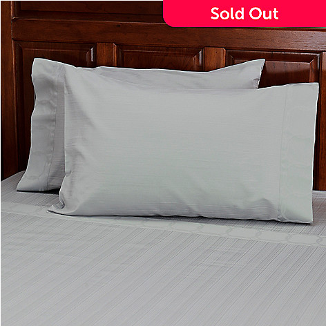 434-373 - North Shore Living™ 500TC Egyptian Cotton Pillowcase Pair