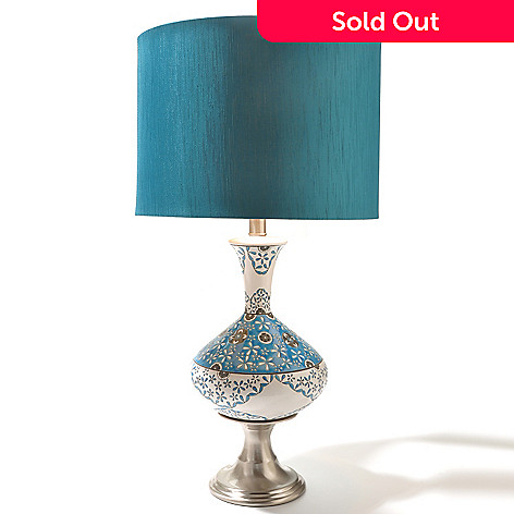 434-412 - Treasured Lighting 26.5'' Turkish Delight Ceramic Lace Table Lamp
