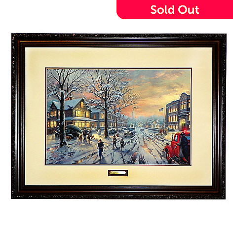 434-618 - Thomas Kinkade Studios ''Christmas Story'' 18'' x 27'' Limited Edition Framed Print